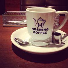 at Hamamatsu //2013 Hoshino Coffee, Hamamatsu, Mugs, Tableware, Dinnerware, Tumblers, Tablewares, Mug, Dishes