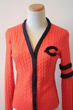 DIY varsity sweater re-fashion