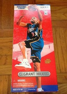 97 Grant Hill 14 Inch Fully Poseable NBA Starting Lineup Figure for sale online Collector Dolls, The Collector, Nba Action Figures, Artist Grants, Theme Sport, Scottie Pippen, Army Men, Team Usa