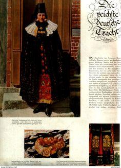 Bücher, Zeitschriften, Comics - Die reichste deutsche Tracht / unvollständiger Artikel, entnommen aus Modezeitschrift 1942