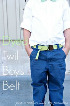 Just Another Day in Paradise: Dyed Twill Boys' Belt