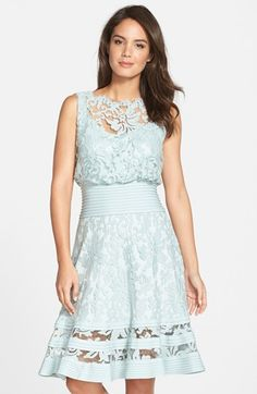 Tadashi+Shoji+Lace+Fit+&+Flare+Dress+available+at+#Nordstrom