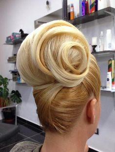 Elegant Hairstyles, Up Hairstyles, Pretty Hairstyles, Wedding Hairstyles, Competition Hair, 1960s Hair, Sleek Updo, Blonde Updo, Thick Hair