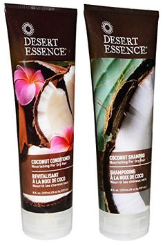 Desert Essence Coconut Shampoo  Conditioner  8 ozBundle ** You can find out more details at the link of the image.