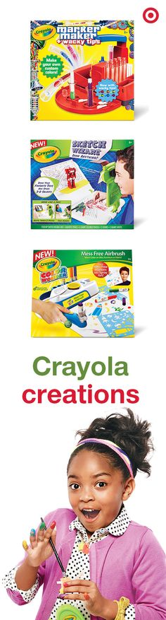 Everyone can color, imagine and draw. These Crayola sets make the perfect gift for both boys and girls. Watch 'em start creating right away. #Target