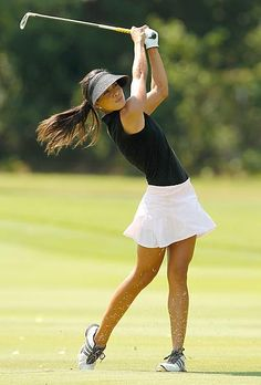 Perfect shape ... um, I mean form - Veronica Felibert, iron shot, LPGA Tour Beauties Photos | GOLF.com