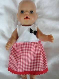 Puppenkleidung-Puppenkleid-mit-Unterhoeschen-z-B-Baby-Born