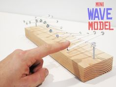 Wave Model Only takes a few minutes to set up. Teach kids about waves and motion.Only takes a few minutes to set up. Teach kids about waves and motion. Middle School Science, Elementary Science, Science Classroom, Teaching Science, Science Education, Science For Kids, Science Activities, Teaching Kids, Science Diy