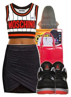 """""""Good Afternoon"""" by queenbaddiie ❤ liked on Polyvore featuring H&M and Moschino"""