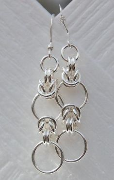 The Half Byzy Chainmaille Earring by minnie slade