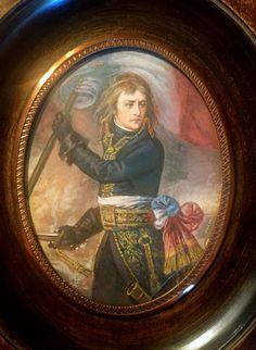 Antique Miniature Portrait Of Napoléon Bonaparte Pont d arcole
