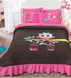 Simple Decor Ideas For Teen Girl Bedrooms Owl Bedding, Kids Bedding Sets, Teen Bedding, Comforter, Owl Bedrooms, Teen Girl Bedrooms, Tidy Room, Desks For Small Spaces, Twin Sheet Sets
