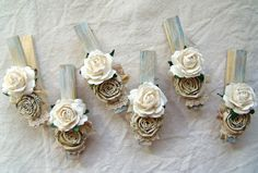 French Country Shabby Chic Cottage blue decorative clothespins ...1500 x 1012 | 478KB | www.etsy.com