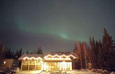 Aurora borealis above 7 Gables Inn & Suites Bed & Breakfast, Fairbanks, Alaska (Courtesy of 7 Gables Inn & Suites Bed & Breakfast)