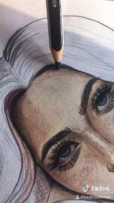 Watercolor Art Paintings, Eye Painting, Watercolour, Art Drawings Sketches Simple, Pencil Art Drawings, Cool Drawings, Copic Markers Tutorial, Arte Sketchbook, Marker Art