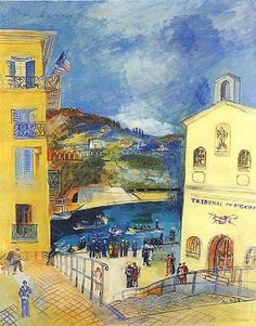 Villefranche-sur-Mer by Jean Dufy (French, 1888 – 1964)