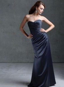 Dark blue #bridesmaids long dress