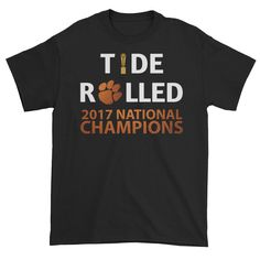 2017 OFFICIAL NATIONAL CHAMPIONSHIP Metallic Orange Clemson Tigers Tide  Rolled Men s Shirt by Fufanz on Etsy 99554eab4
