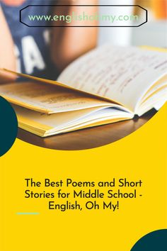 Are you looking for engaging and fun poem for poetry month? These poems and short stories will engage your middle school students in your classroom. #elaclassroom #englishteacher