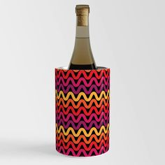 Wavy Lines Retro Colors Wine Chiller Wine Chillers, Retro Color, Cool Stuff, Colors, Crafts, Manualidades, Colour, Handmade Crafts, Craft