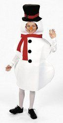 Snowman Winter Holiday Child Costume Photo NWT 4-14 Years . $24.99. Snowman child costume size 4-14 years. This costume includes the Polyester fabric tunic and carrot nose on an elastic strap. The costume is new in manufacturer packaging. This is an excellent costume for Christmas pictures.