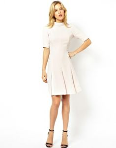 9366fa3542db94 Image 4 of Ted Baker Dress with Pleated Skirt Ted Baker Dress