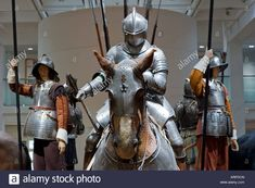 An exhibit of historical armor at the Royal Armouries in Leeds West Yorkshire England December 12 2007 Stock Photo Cornwall England, Yorkshire England, Yorkshire Dales, West Yorkshire, Oxford England, London England, Skye Scotland, Highlands Scotland, Horse Armor