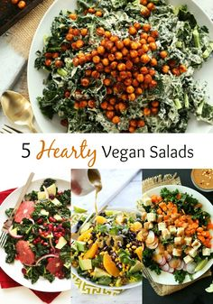 5 Hearty Vegan Salads