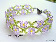 Swarovski Elements Bracelet Purple Crystal Bracelet Purple