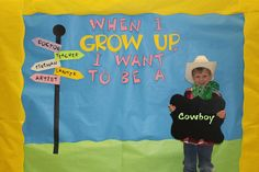 Career Day Photo Props - have students come to school dressed for the career they want.