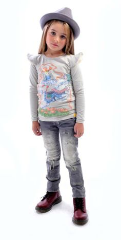 Liberty Rider tee, Freddy Fedora and Strummer jeans | Rock Your Kid winter 2014 | www.rockyourbaby.com