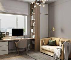 Study Table Designs, Study Room Design, Small Room Design, Home Room Design, Kids Room Design, House Design, Guest Room Office, Home Office Space, Home Office Decor
