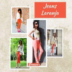Tendência: jeans laranja