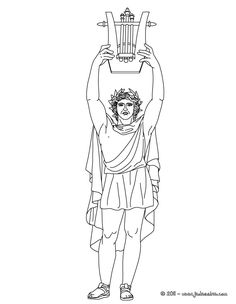 apollo the greek god of arts and music coloring page the hellokids members who have chosen this apollo the greek god of arts and music coloring page - Ancient Greek Gods Coloring Pages