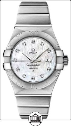 Omega 123.10.31.20.55.001 - Reloj para mujeres, correa de acero inoxidable  ✿ Relojes para mujer - (Lujo) ✿