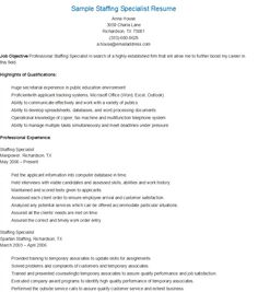 Sample Referral Specialist Resume | resame | Pinterest
