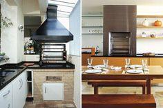 Soluções criativas de áreas com churrasqueira adaptadas a ambientes menores.