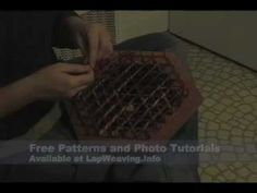 Video tutorial displaying how to weave on a hexagon lap loom.