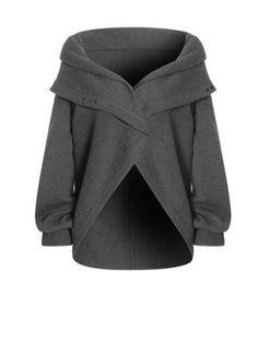 Jaeger Circular hem parachute hoodie Charcoal - House of Fraser - StyleSays