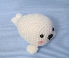 Amigurumi Baby Seal Crochet Pattern via Craftsy