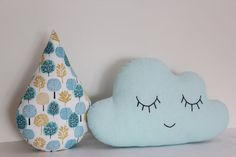Cloud and rain drop pillows cloud cushion child by ProstoConcept