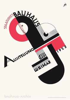 Poster for the 1923 Bauhaus Exhibition in Weimar designed by Joost Schmidt. #FontSunday @DesignMuseum