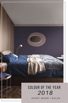 How to decorate with Dulux Colour of the year 2018 Heart Wood a grey-pink or grey-mauve colour that is both comforting and inviting. It represents the warmth of natural wood. Turn your home into a cocoon, a sanctuary. Interiors tips and ideas, home decor Dulux Valentine, Popular Paint Colors, Paint Colours, Latest House Designs, American Interior, Inviting Home, Stylish Bedroom, Color Of The Year, Home Decor Trends