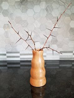 Annabelle, Handcrafted Cherry Burl Wood Vase, Made from Wood Locally Sourced in Bourbon County, Kentucky
