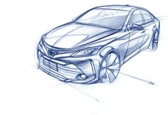 Learn how to draw a car using our step by step tutorials. Sports cars, classic cars, imaginary cars - we will show you how to draw them like the pros. Car Design Sketch, Car Sketch, Sketching Techniques, Line Sketch, Industrial Design Sketch, Futuristic Cars, Car Drawings, Cool Sketches, Car Painting