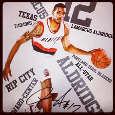 LaMarcus Aldridge Poster Night