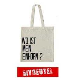 Einhorn Jutebeutel von MyBeutel auf DaWanda.com