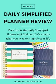See how the Daily Simplified Planner can help you simplify your chaotic life so you can get more done and have more fun! Check out my thorough and honest review of the Daily Simplified Planner including tons of pictures, how I use it for goal setting, time tracking, time blocking, how it compares to the Weekly Simplified Planner, how it compares to the daily Day Designer and what the best pens are to use in it. Best Planners For Moms, Best Weekly Planner, Planner Tips, Simplified Planner, Time Management Tools, Planner Organization, Organizing, Erin Condren Life Planner, How To Plan