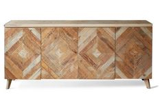 "Garrett 80"" Sideboard, Natural-way over any budget, and probably not the right look, but it's SO cool I had to share!"