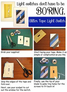An Easy Craft To Transform Your Light Switches And Add Some Personality To Every  Room!